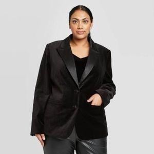 A NEW DAY Pointe Tailored Velvet Blazer